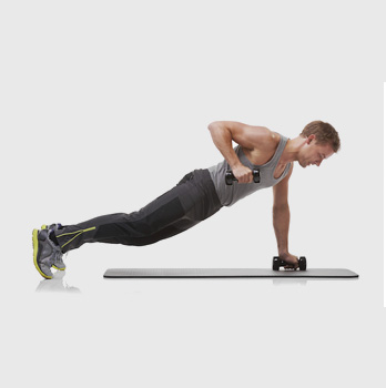 Dumbbell Push up and Row
