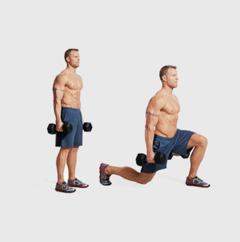 Dumbbell Reverse Lunge and Curl