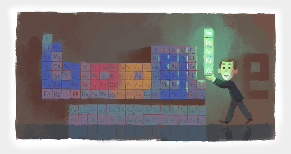 google doodle paid tribute to chemist sir william ramsay